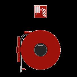 Chubb Fire & Security Fire hose reel wall mounted swiveling