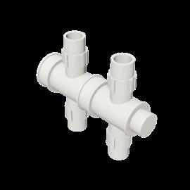 Valsir Pexal EASY 2-way cross modular manifold cold water