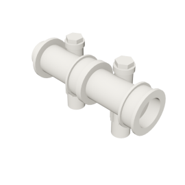 Valsir Pexal EASY 2-way modular manifold with offset hot water