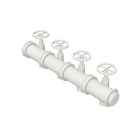 Valsir Pexal EASY 4-way modular manifold for domestic hot water distribution
