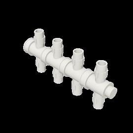 Valsir Pexal EASY 4-way cross modular manifold hot water
