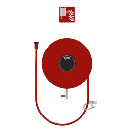 Chubb Fire & Security Fire hose reel wall mounted fixed