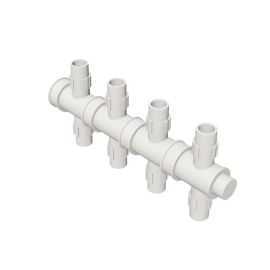Valsir Pexal EASY 4-way cross modular manifold hot water