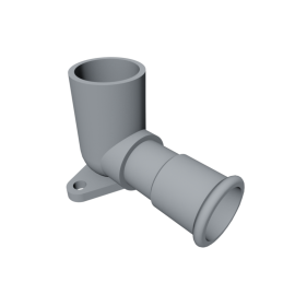 Isotubi Elbow with Wallnut
