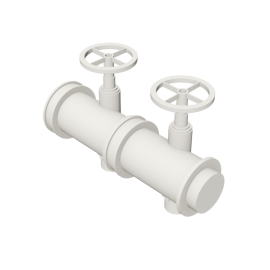 Valsir Pexal EASY 2-way modular manifold for domestic hot water distribution