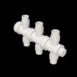 Valsir Pexal EASY 3-way cross modular manifold cold water