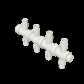 Valsir Pexal EASY 4-way cross modular manifold cold water