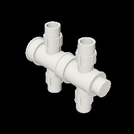 Valsir Pexal EASY 2-way cross modular manifold hot water