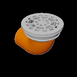 DE BEER Pluvetta 80 (80 mm with 90° bend)