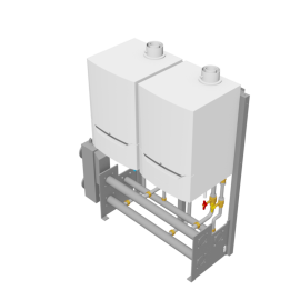 De Dietrich Thermique Export - Cascade 2x Evodens Pro-45-115 - Freestanding