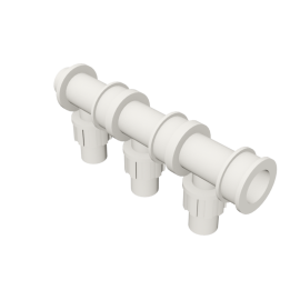 Valsir Pexal EASY 3-way modular manifold cold water