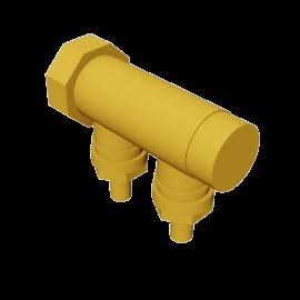 Valsir Pexal BRASS 2-way manifold cold water