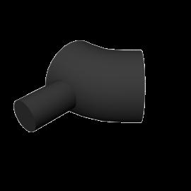 Valsir HDPE 45° bend with socket branch