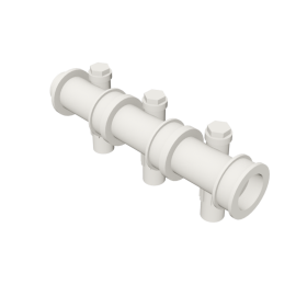 Valsir Pexal EASY 3-way modular manifold with offset cold water