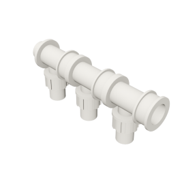 Valsir Pexal EASY 3-way modular manifold hot water