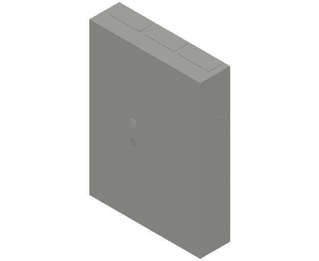 E_Distribution Panel_MEPcontent_ABB_ComfortLine B-Cabinets_7 Rows_B37 - IP44 252 modules 1100x800x215_INT-EN.dwg