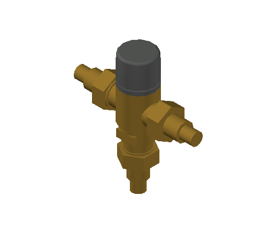 SA_Adjustable_Three-way_Thermostatic_Mixing_Valve_MEPContent_Caleffi-521A_DN15-DN25_.75 in. PEX Crimp With inlets check valves_US-EN.dwg