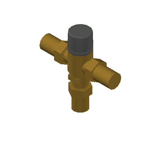 SA_Adjustable_Three-way_Thermostatic_Mixing_Valve_MEPContent_Caleffi-521A_DN15-DN25_1 in. SWT With inlets check valves_US-EN.dwg