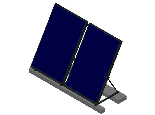 HC_Solar Collector_F_MEPcontent_Remeha_Vertical Mounted on Flat Roof_2C DB200.dwg