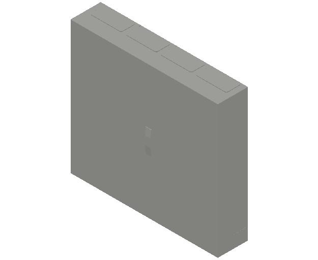 E_Distribution Panel_MEPcontent_ABB_ComfortLine B-Cabinets_6 Rows_B46 - IP44 288 modules 950x1050x215_INT-EN.dwg