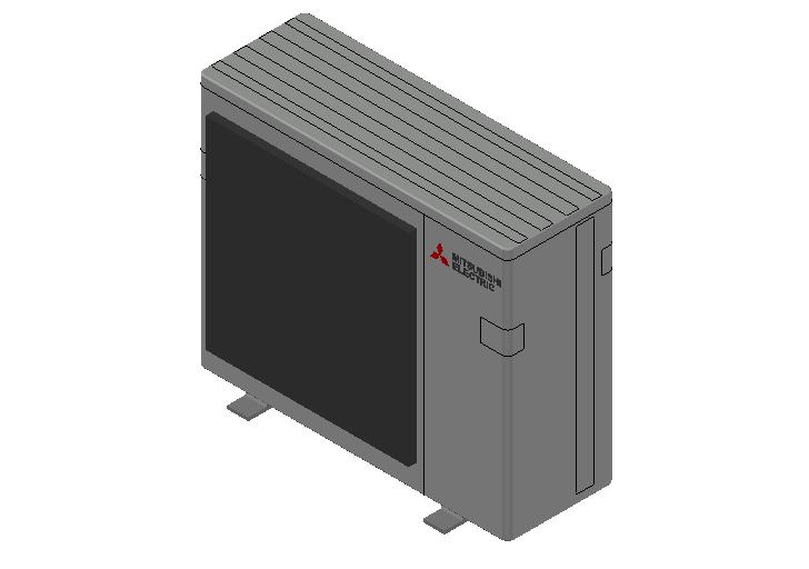 HC_Heat Pump_MEPcontent_Mitsubishi Electric Corporation_MXZ-4F83VF-E1_INT-EN.dwg