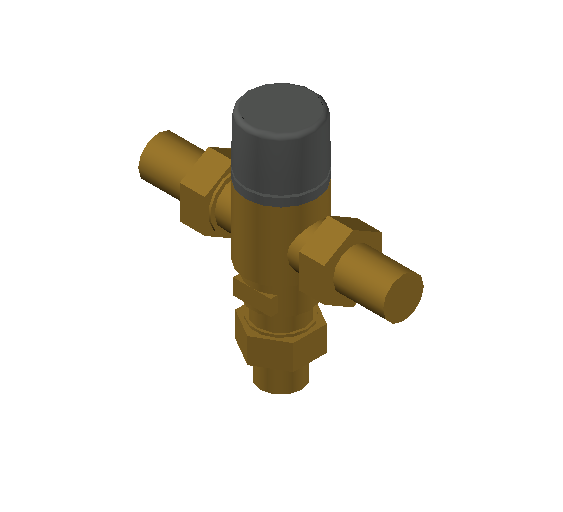 SA_Adjustable_Three-way_Thermostatic_Mixing_Valve_MEPContent_Caleffi-521A_DN15-DN25_.75 in. SWT With inlets check valves_US-EN.dwg