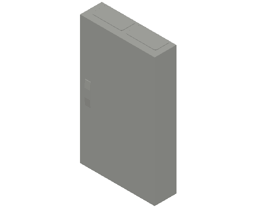 E_Distribution Panel_MEPcontent_ABB_ComfortLine CA-Cabinets_6 Rows_Empty Cabinet_CA26B - IP44 144 modules 950x550x160 transparent door_INT-EN.dwg