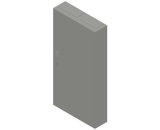 E_Distribution Panel_MEPcontent_ABB_ComfortLine CA-Cabinets_7 Rows_Empty Cabinet_CA27B - IP44 168 modules 1100x550x160 transparent door_INT-EN.dwg
