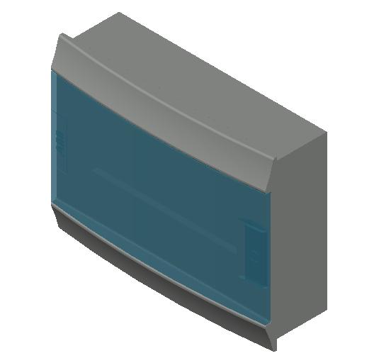 E_Distribution Board_MEPcontent_ABB_MISTRAL41F_Hollow Walls_12 modules 320x250x107 without terminals transparent door_INT-EN.dwg