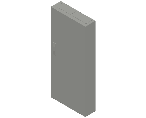 E_Distribution Panel_MEPcontent_ABB_ComfortLine CA-Cabinets_8 Rows_Empty Cabinet_CA28B - IP44 192 modules 1250x550x160 media ventilated_INT-EN.dwg