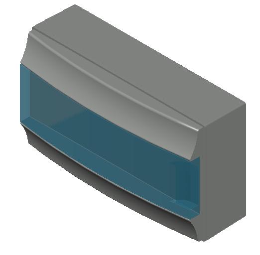 E_Distribution Board_MEPcontent_ABB_MISTRAL65_18 modules 430x250x155 without terminals transparent door_INT-EN.dwg