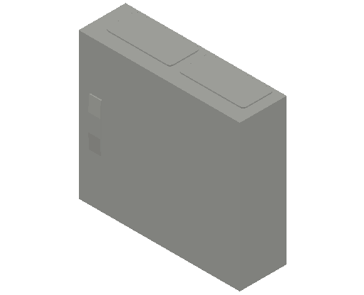 E_Distribution Panel_MEPcontent_ABB_ComfortLine CA-Cabinets_3 Rows_Empty Cabinet_CA23B - IP44 72 modules 500x550x160 transparent door_INT-EN.dwg