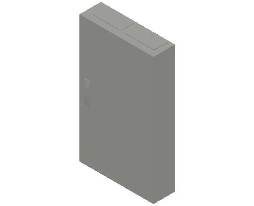 E_Distribution Panel_MEPcontent_ABB_ComfortLine CA-Cabinets_6 Rows_Empty Cabinet_CA26B - IP44 144 modules 950x550x160 media WiFi_INT-EN.dwg