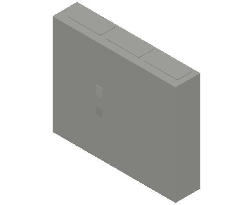 E_Distribution Panel_MEPcontent_ABB_ComfortLine CA-Cabinets_4 Rows_Empty Cabinet_CA34B - IP44 114 modules 650x800x160 transparent door_INT-EN.dwg