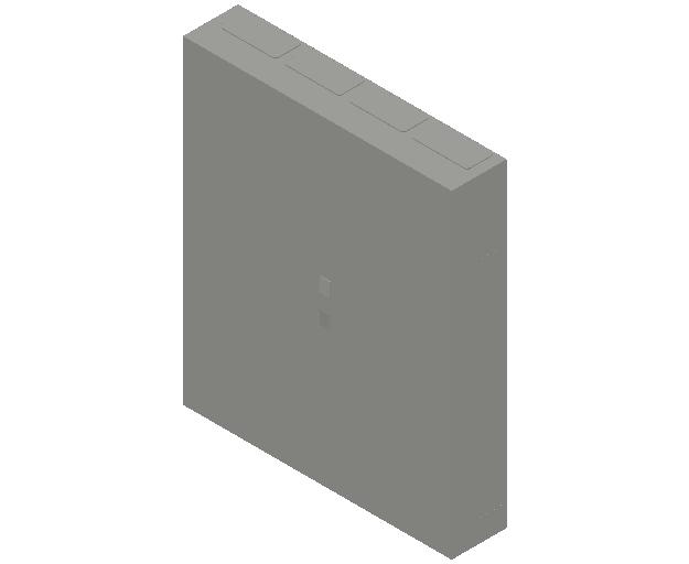 E_Distribution Panel_MEPcontent_ABB_ComfortLine B-Cabinets_8 Rows_B48 - IP44 384 modules 1250x1050x215_INT-EN.dwg