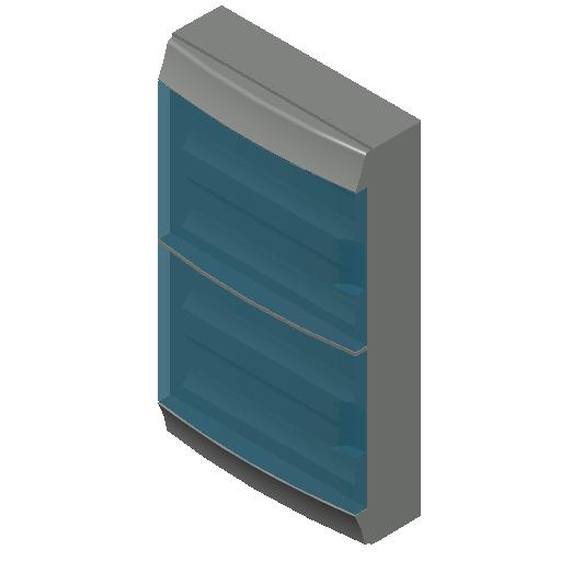 E_Distribution Board_MEPcontent_ABB_MISTRAL65_72 modules 430x735x155 with terminals transparent door_INT-EN.dwg