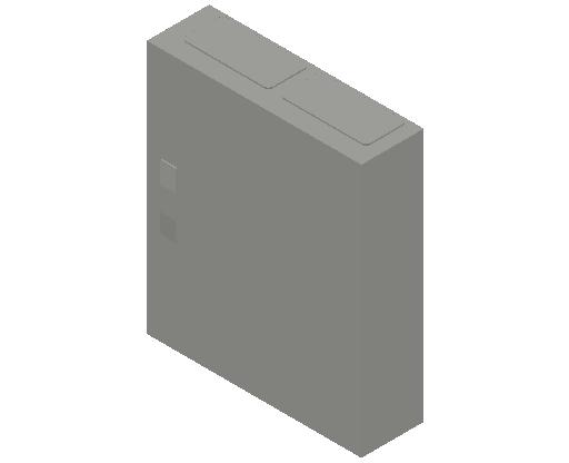 E_Distribution Panel_MEPcontent_ABB_ComfortLine CA-Cabinets_4 Rows_Empty Cabinet_CA24B - IP44 96 modules 650x550x160 transparent door_INT-EN.dwg