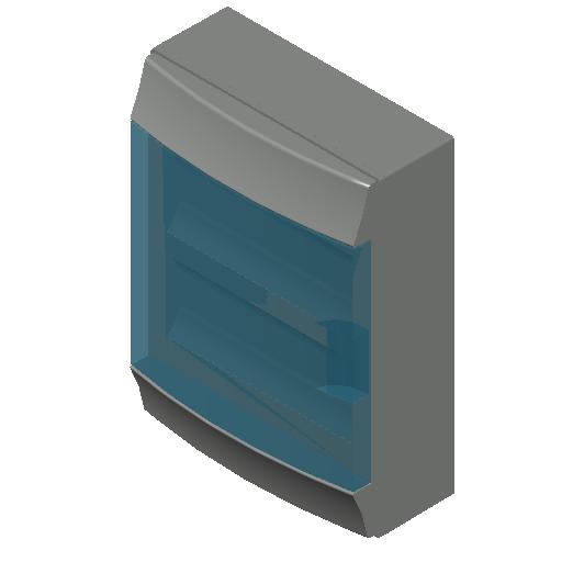 E_Distribution Board_MEPcontent_ABB_MISTRAL65_24 modules 320x435x155 with terminals wall transparent door_INT-EN.dwg