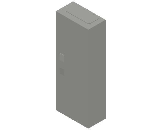 E_Distribution Panel_MEPcontent_ABB_ComfortLine CA-Cabinets_5 Rows_Empty Cabinet_CA15B - IP44 60 modules 800x300x160 media ventilated_INT-EN.dwg