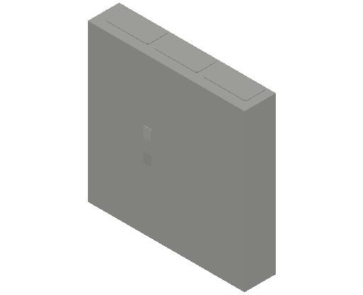 E_Distribution Panel_MEPcontent_ABB_ComfortLine CA-Cabinets_5 Rows_Empty Cabinet_CA35B - IP44 180 modules 800x800x160 empty with door_INT-EN.dwg
