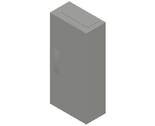E_Distribution Panel_MEPcontent_ABB_ComfortLine CA-Cabinets_4 Rows_Empty Cabinet_CA14B - IP44 48 modules 650x300x160 media WiFi_INT-EN.dwg