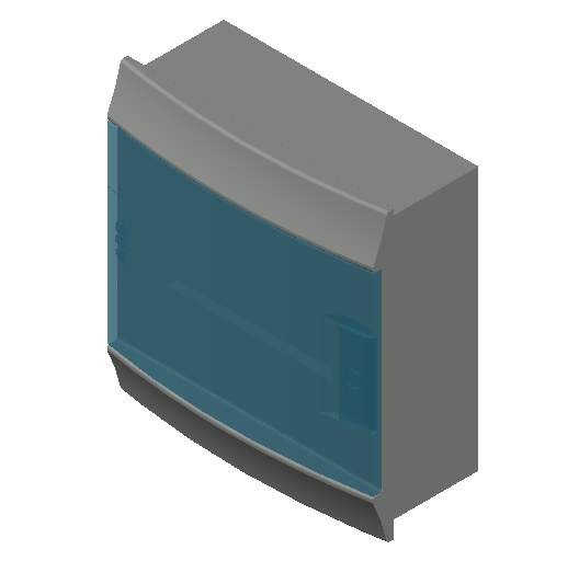 E_Distribution Board_MEPcontent_ABB_MISTRAL41F_Hollow Walls_8 modules 232x250x107 without terminals transparent door_INT-EN.dwg