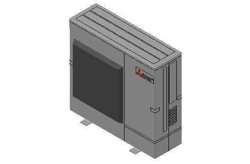 HC_Heat Pump_MEPcontent_Mitsubishi Electric Corporation_PUMY-SP140VKM-BS_INT-EN.dwg