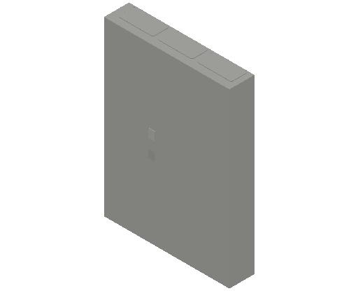 E_Distribution Panel_MEPcontent_ABB_ComfortLine CA-Cabinets_7 Rows_Empty Cabinet_CA37B - IP44 252 modules 1100x800x160 transparent door_INT-EN.dwg
