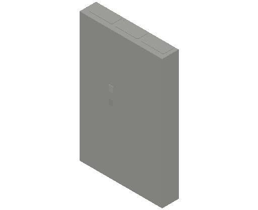 E_Distribution Panel_MEPcontent_ABB_ComfortLine CA-Cabinets_8 Rows_Empty Cabinet_CA38B - IP44 288 modules 1250x800x160 transparent door_INT-EN.dwg