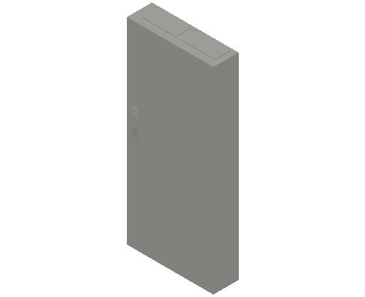 E_Distribution Panel_MEPcontent_ABB_ComfortLine CA-Cabinets_8 Rows_Empty Cabinet_CA28B - IP44 192 modules 1250x550x160 empty with door_INT-EN.dwg