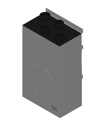 VE_Air Heater_Heat Recovery_MEPcontent_Mitsubishi Electric Corporation_VL-250CZPVU-R-E_Silencer Box P-250SB-E_INT-EN.dwg