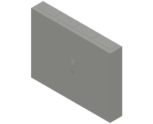 E_Distribution Panel_MEPcontent_ABB_ComfortLine CA-Cabinets_5 Rows_Empty Cabinet_CA45B - IP44 240 modules 800x1050x160 media ventilated_INT-EN.dwg