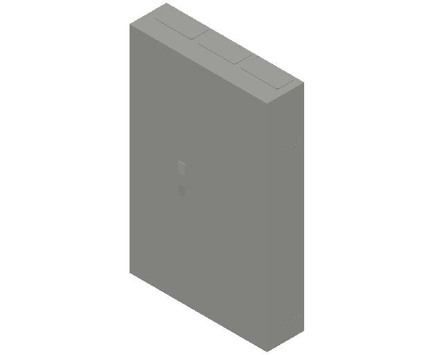 E_Distribution Panel_MEPcontent_ABB_ComfortLine B-Cabinets_8 Rows_B38 - IP44 288 modules 1250x800x215_INT-EN.dwg