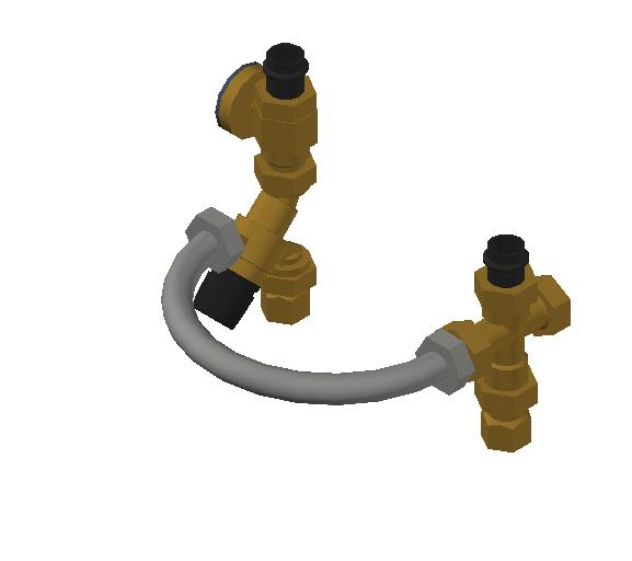 SA_Mixing_Valve-TankMixer_MEPContent_Caleffi-Brass-520_0.75 inch. NPTF x 0.75 inch. Press with pressure gauge_US-EN.dwg